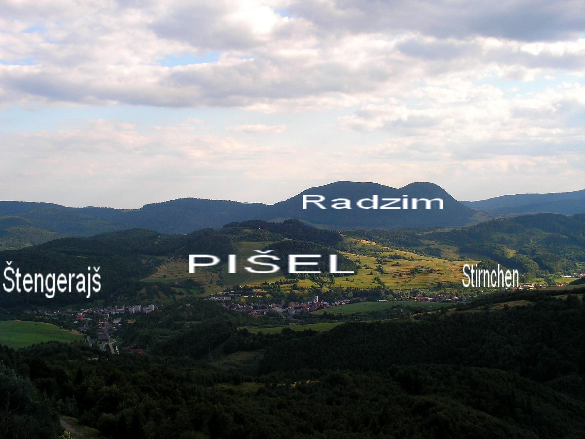 Popis vrchov Radzim Pišel