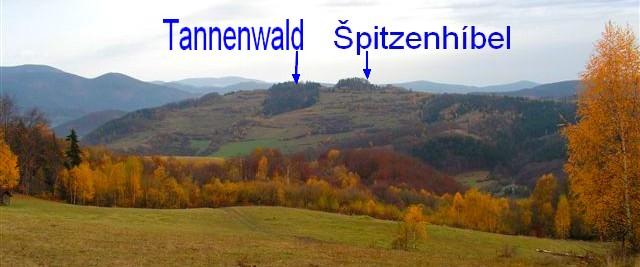 Špitzenhíbel a Tannenwald z Vincovky