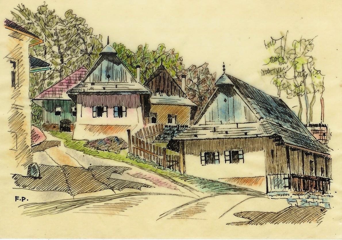 Dobová maľba, Cintorínska ulica z fotoalbumu pána Stehla