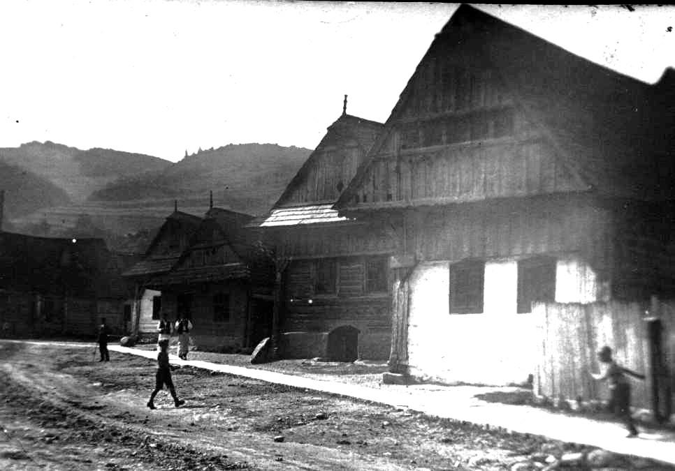 Dobšiná, ul. Letná, t.č. ul.SNP, pred r. 1950